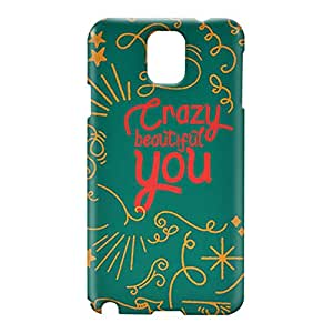 Loud Universe Samsung Galaxy Note 3 3D Wrap Around Crazy Beautiful You Print Cover - Green