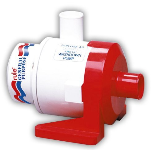 Rule 17A 3800 General Purpose Centrifugal Pump, 3800 GPH, 12 Volt DC,White/Red by Rule