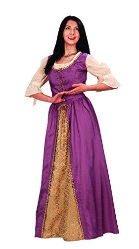 Museum Replicas Avington Gown Medieval Overdress Ladies Ren Faire Costume (Medium, Lavender) ()