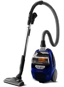 Electrolux ZUP3820B - Aspiradora (2100 W, Aspiradora cilíndrica, Sin bolsa, 1,25 L, Negro, Azul, Aluminio)