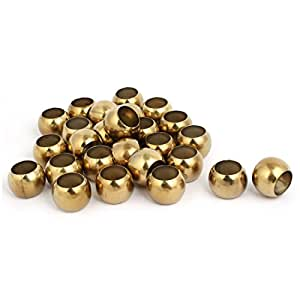 uxcell38mmx25.5mm 201 Stainless Steel Hollow Ball Gold Tone 32pcs for Handrail Post