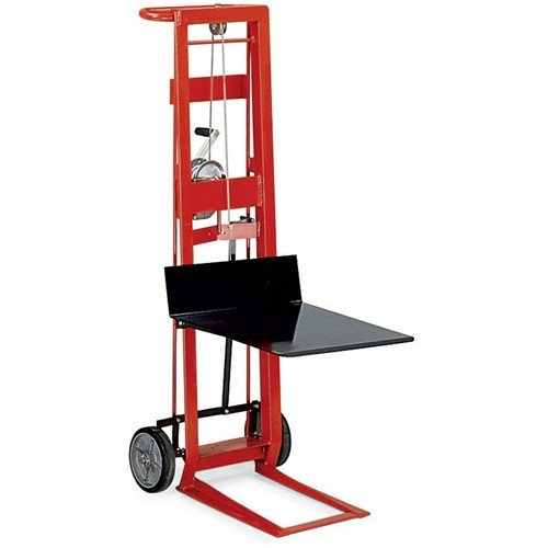 (Wesco 260015 Steel Frame 2 Wheeled Winch Pedalift, 750-lb. Capacity, 40