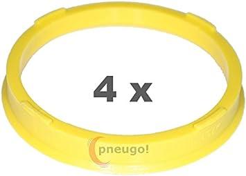 4 X Zentrierringe Kunststoff 73 1mm Auf 65 1mm Gelb Auto