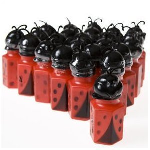 Ladybug Bubble Bottles - party favor bubbles -Pack of 24 by OTC