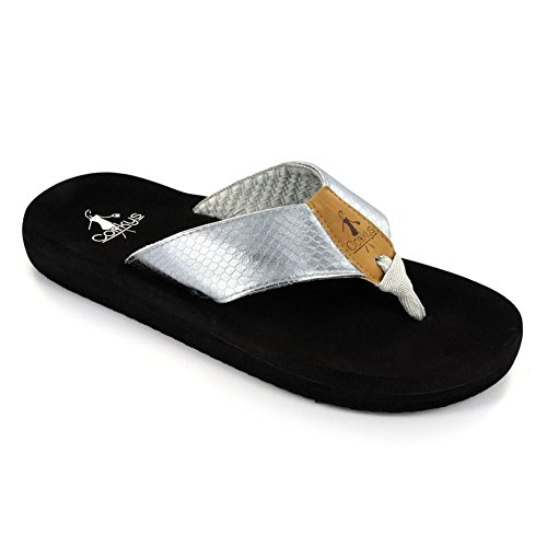 Flip Silver Footwear Womens Ladies Corkys Flop tqYHwgg