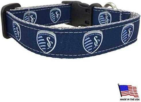 Navy Medium MLS Kansas City Sporting Dog Collar