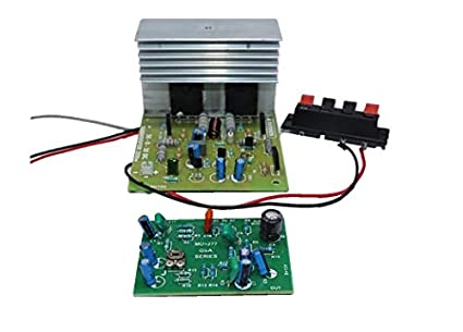 2 MOSFET Based Mono SUBWOOFER Amplifier Board with SUBWOOFER