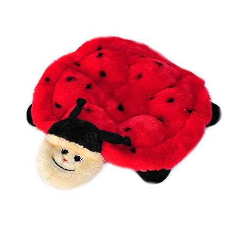 ZippyPaws - Crawlers, 6-Squeaker Plush Dog Toy - Betsey The Ladybug