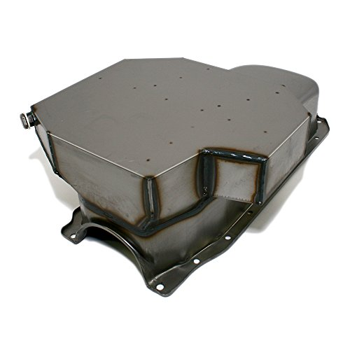 Assault Racing Products A7201R 350 Small Block Chevy Champ Style Raw Oil Pan 8QT 86 1 Piece Rear Main Vortec