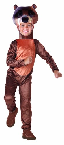 Jungle Book Bagheera Costume (Seasons Baloo Child Costume, 4-6 Size)
