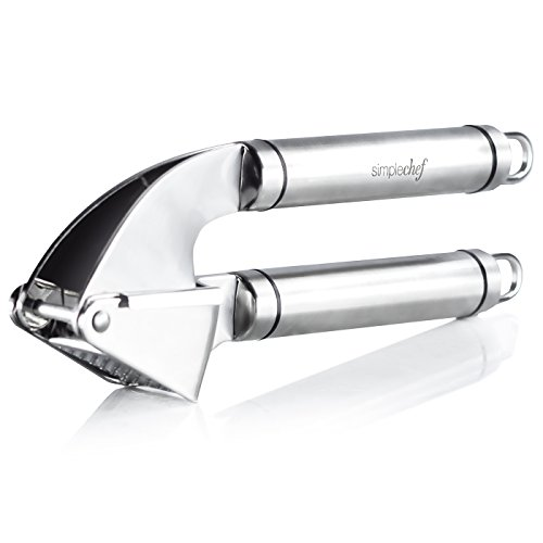 Simple Chef Stainless Steel Garlic Press & Silicone Peeler S