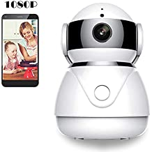 BESDERSEC WiFi Security Camera, Pro HD 1080P Home Security IP Camera Night Vision Compatible Echo Dot Remote Surveillance Camera Baby Pet Monitors Motion Detection Two-Way Audio Pan/Tilt