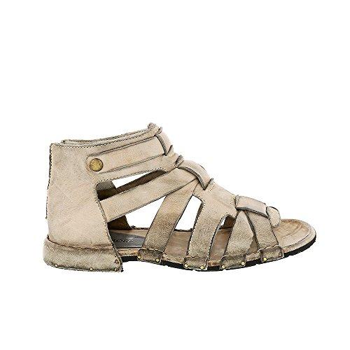 8100 Melrose Gladiator Platt Sandal Grå