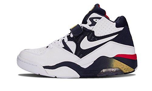 Zapatillas Nike Air Force 180 Para Hombre Blanco / Blanco-medianoche, Azul Marino, Metalizado
