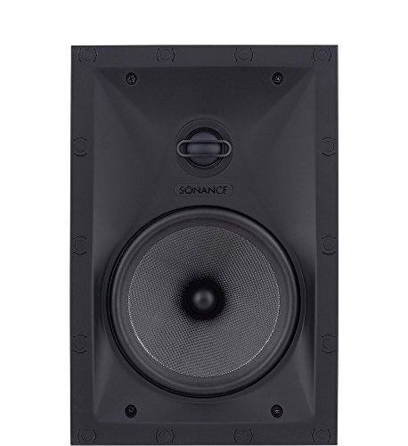 Sonance Black Visual Performance In-Wall Rectangle Speakers