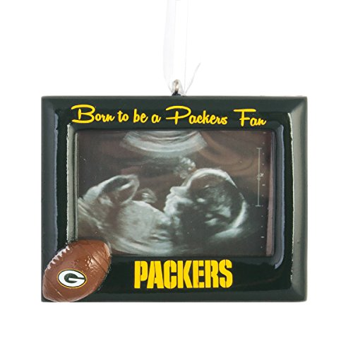NFL Football DIY Personalized Christmas Ornament Green Bay Packers Born to be a Packers Fan Picture Frame Team Ornament Do it yourself