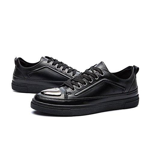 Peau De Talon De Baskets Plat Humides Hommes Chaussures Couleur Porc Bout Cricket Chaussures Loisir Solide Noir Urbaines Rond t80ZqxIw