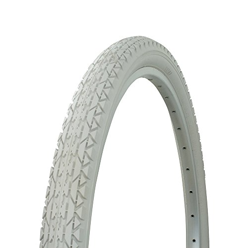 Fenix Wanda Diamond Tread Bicycle Tire White Wall 26 x 2.125, for Beach Cruiser Bikes, Various Colors (Light Grey) (Lowrider Bicycle Tires)