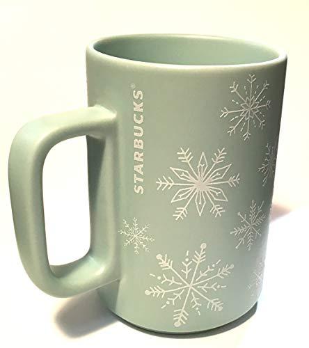 Starbucks Holiday 2018 Raised Frosty Mint Snowflakes 12oz Mug ()