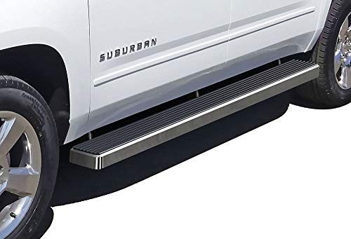 APS iBoard (Silver 5 inches) Running Boards   Nerf Bars   Side Steps   Step Rails for 2000-2019 Suburban 1500 / Yukon XL 1500 (Excl. Z71&Denali) & 02-13 Avalanche