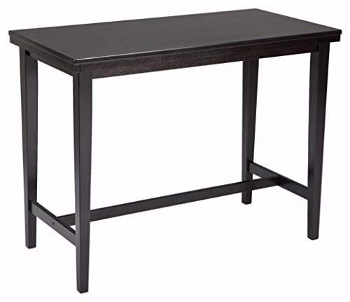 Ashley Furniture Signature Design - Kimonte Dining Room Table - Counter Height - Rectangular - Dark Brown (Breakfast Room Table)