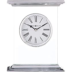 Howard Miller Clifton Table Clock 645-641 - Modern Glass with Quartz Movement