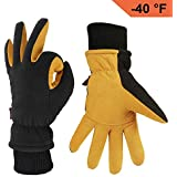 OZERO Winter Gloves -30°F Cold Proof Thermal Driving Glove - 3M Thinsulate Insulated Cotton and Windproof Membrane, Warm Hands in Cold Weather for Men and Women