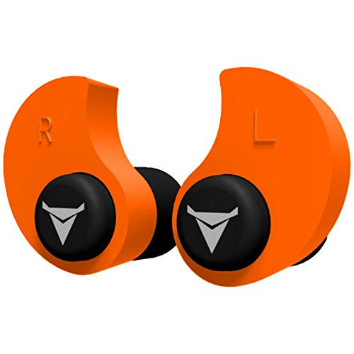 Decibullz - Custom Molded Earplugs, 31dB Highest NRR, Comfortable Hearing Protection for Shooting, Travel, Swimming, Work and Concerts (Orange)