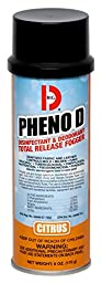 Big D 337 Pheno D Disinfectant & Deodorant Total Release Fogger, Citrus Fragrance, 6 oz (Pack of 12)