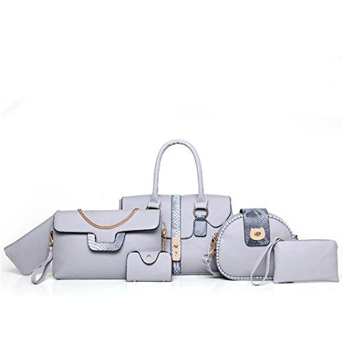 Clearance Sale! Pack of 6 Bags Women Multi-purpose Purse Leather Leatherette Shoulder Handbag ❤️ ZYEE ()