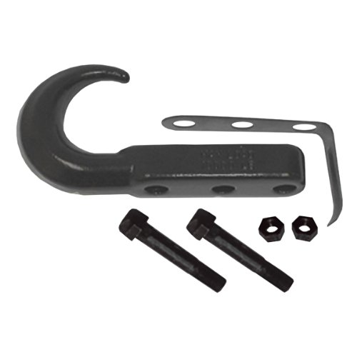 Rugged Ridge 11236.02 Black Universal Front Tow Hook (Ridge Hook Tow Rugged)