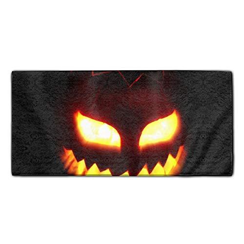 YSKHDBC Towel Halloween Jack-o-Lantern Print 27.5 X 11.8 in Microfiber Towel