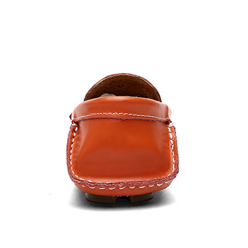 Conducción Tamaño on Suave Loafers Sunny Penny Slip Color los EU Suela 42 Hombres Vamp Antideslizante Orange Mocasines Negro de Plana Hollow amp;Baby gqUvxAUw5