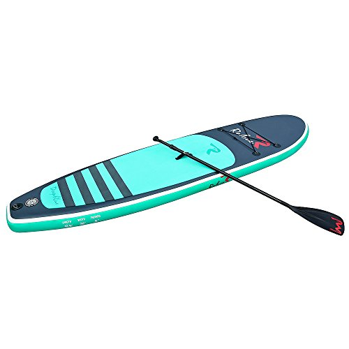 "Rokia R 10'6"" Inflatable SUP Stand Up Paddle Board (6"" Thick) iSUP for Fitness, Yoga, Fishing on Flat Water, Blue"