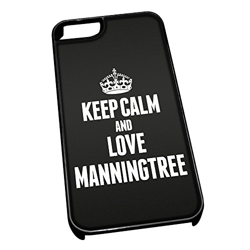 Nero cover per iPhone 5/5S 0417nero Keep Calm and Love Manningtree