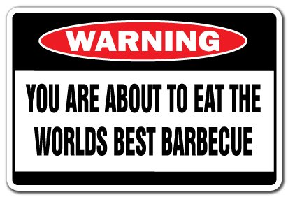 [SignJoker] WORLDS BEST BARBECUE Warning Sign bbq smoker grill Wall Plaque Decoration ()