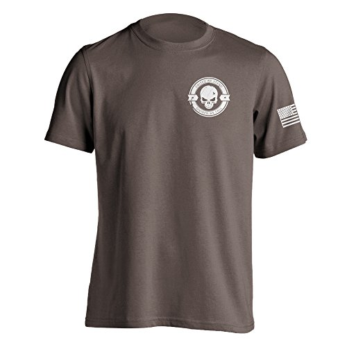 Divided We Fall Military Sniper Skull T-Shirt Small Brown Savana