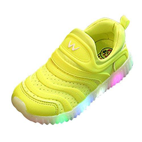 LED Schuhe Breathable Prewalker Für Baby Unisex Kinder Helle Schuhe Turnschuhe Grün