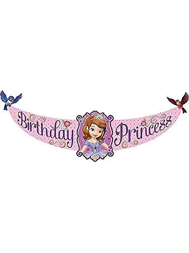 Sofia the First Cardboard Birthday Banner (6ft) -