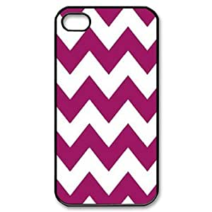 Chevron Stripes New Fashion DIY Phone Case for Iphone 4,4S,customized cover case624555