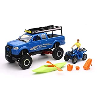 New-Ray Xtreme Off Road Wheeled Pickup Truck Playset