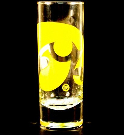 NCAA Licensed 2.5 Oz. Shooter Hype Cordial Style Shot Glass (Iowa Hawkeyes)