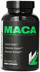 LiveLong Nutrition Maca Capsules, 100 Count