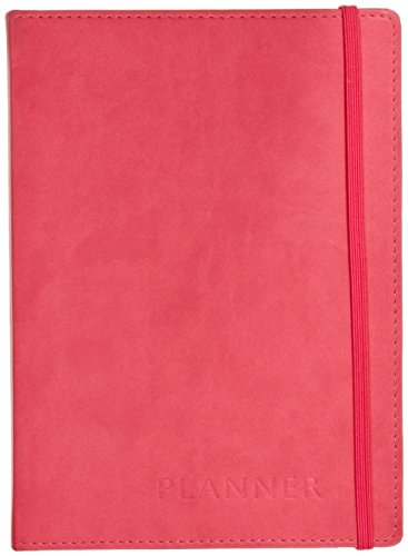 (C.R. Gibson Soft Italian Leatherette Daily Planner, By Markings, Smyth-Sewn inding, 52 Planning Weeks, Alpha Index Address Pages, Measures 5.75