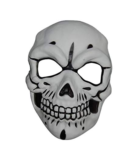 MA ONLINE Unisex Fancy Plastic Skull Mask Adults Stag Props Party Halloween Accessory