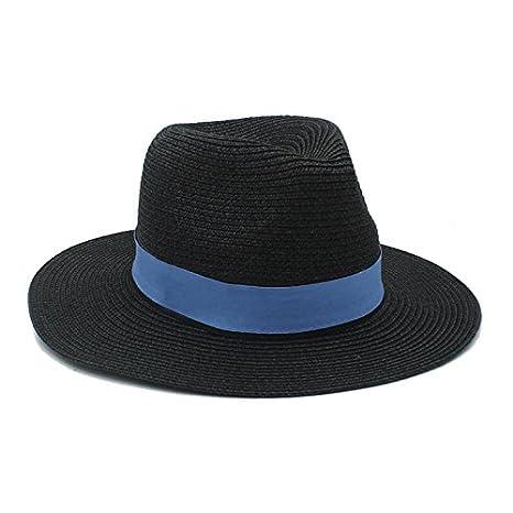 CCLLc Moda Donna Uomo Estate Paglia Cappello Da Sole Per Signora Elegante  Outdoor Tesa Larga Da 1b4048442c9e