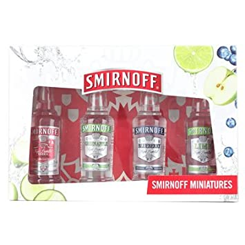 Smirnoff Vodka Gift Set - Original, Lime, Blueberry and Green Apple Vodka Pack: Amazon.ca: Electronics