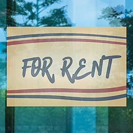 CGSignLab 30x20 for Rent Nostalgia Stripes Window Cling 5-Pack