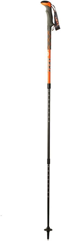 YONGMEI トレッキングポール - アウトドアトレッキングポールリトラクタブル超軽量松葉杖(ペア) (色 : オレンジ) オレンジ