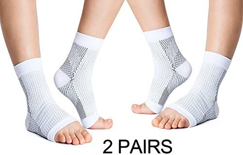9a4bf8a56d Amazon.com: KroO Compression Socks Women Men Ankle Sleeve Brace for Injury  Recovery, Joint Pain, Men, Women, Nurses, Flight Travel, Maternity, ...